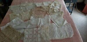 20 Piece Lot Vintage White  & Ecru Doilies Dresser scarves