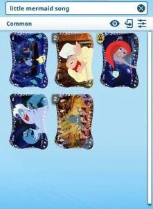 Topps-Disney-Collect-The-Little-Mermaid-Songs-of-diecut-set-with-award-DIGITAL