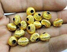 Vintage handmade 22K Gold jewelry beads set of 16 pieces rajasthan india