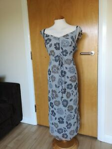 Size 18 Evening Dress Floral Net Smart Party Lined Grey 16 Ladies Sandwich Xl q6pawf14