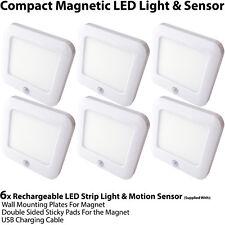 6x Rechargeable Magnétique Lumière Del & Capteur Mouvement – Placard / Armoire