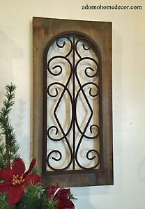 Metal Wood Wall Panel Antique Vintage Rustic Chic Industrial Unique
