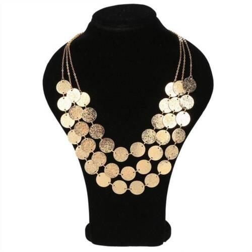 Super Mignon Cadeau Femmes Multi-couche Chaîne Pendentif Collier Déclaration Bib Collier