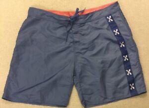 Men-s-VINEYARD-VINES-Blue-Fish-Skeleton-Swim-Trunks-Board-Shorts-Sz-42