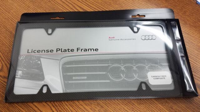 Audi Plate Frame >> Audi License Plate Frame 100 Genuine Carbon Fiber Part Number Zaw071801a Oem