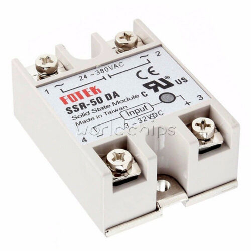 uc3843bn_Solid State Relays SSR-50DA 3V~32V DC to AC 24V~380V 50A 250V Solid State Relay Module ...