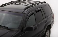 For: JEEP GRAND CHEROKEE; 194650 Window Vent Shades Visors In Channel 1999-2004