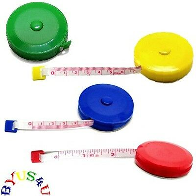 MEASURING TAPE RETRACTABLE 60 inch 150 cm COMPACT TRAVEL SEWING CRAFT 3pc SALE