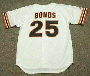 finest selection ec6d9 7b26f Details about BARRY BONDS San Francisco Giants 1993 Majestic Cooperstown  Home Baseball Jersey