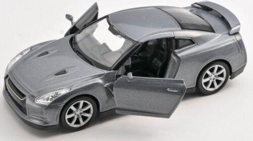 Spedizione LAMPO NISSAN GT-R Grigio//Gray 1:34 Welly Modello Auto Nuovo /& Ovp 1