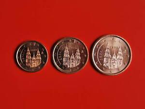 Pièces de 1,2 et 5 cts d'euro - Espagne  - Neuves