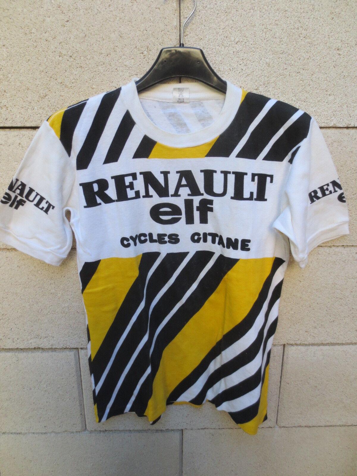 Maillot  T-Shirt RENAULT ELF GITANE vintage cycliste Tour France 1981 S Hinault  alta calidad general