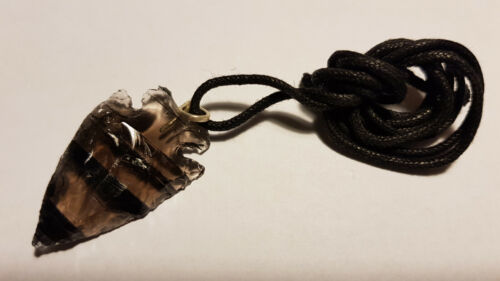 Rauchquarz Pfeilspitze als Anhänger Halskette smoky quartz quarzo affumicato