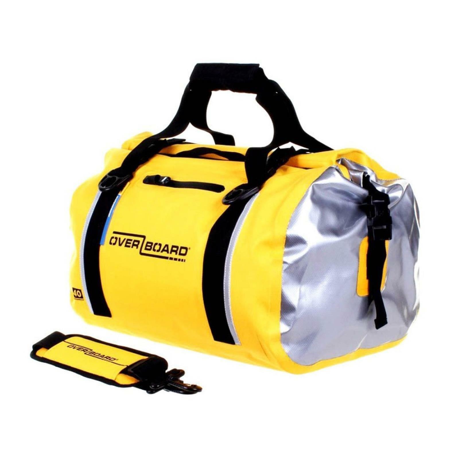 Overboard Impermeabile Duffle Bag 40 LITRI Giallo Borsa sportiva borsa da viaggio