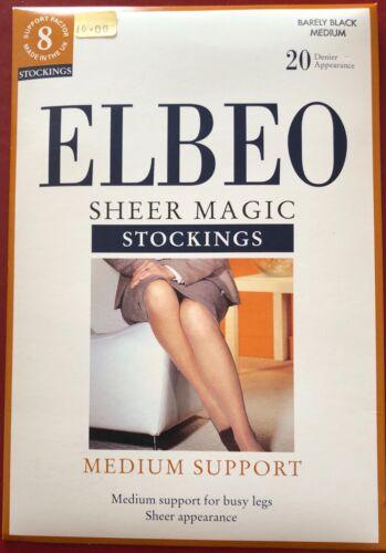 Elbeo SHEER MAGIC Bas en Nylon à Peine MEDIUM NOIR 20 deniers