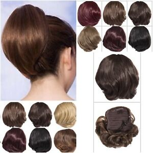 Short-Ponytail-Drawstring-Fit-Hair-Extension-Hairpiece-Pony-Tail-7-034-Long-Natural