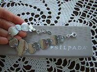 Silpada Textured Sterling Silver badge Of Beauty Bracelet B3074