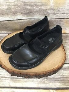 Merrell Tetra Emjay black leather stitched slip on Shoes Women's Sz 10
