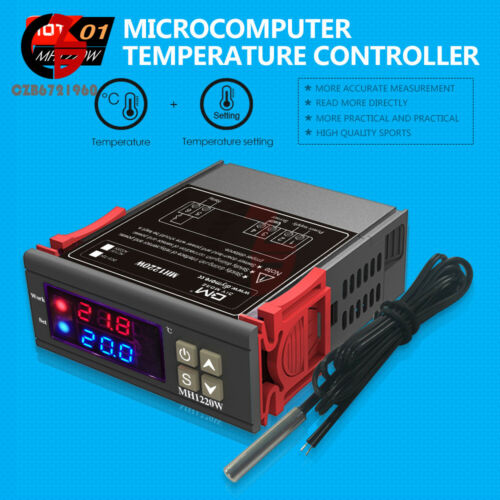MH1220W AC 110-220V 10A Digital Dual Display Temperature Controller Thermostat