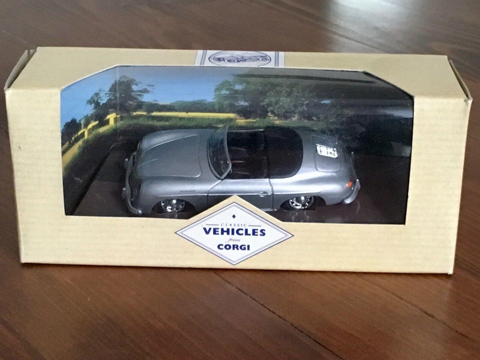Corgi porsche 356 speedster 98123 open top grey rare box