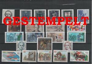 Germany-Berlin-vintage-yearset-1986-Postmarked-Used-complete-More-Sh-Shop