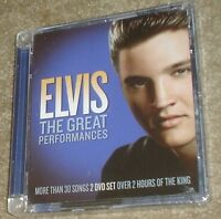 Elvis The Great Performances 2-dvd Set, & Sealed, Region Free, 30 Songs Plus