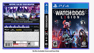 Custom Replacement Case No Disc Watch Dogs Legion Ps4 Ps5 See Description Ebay