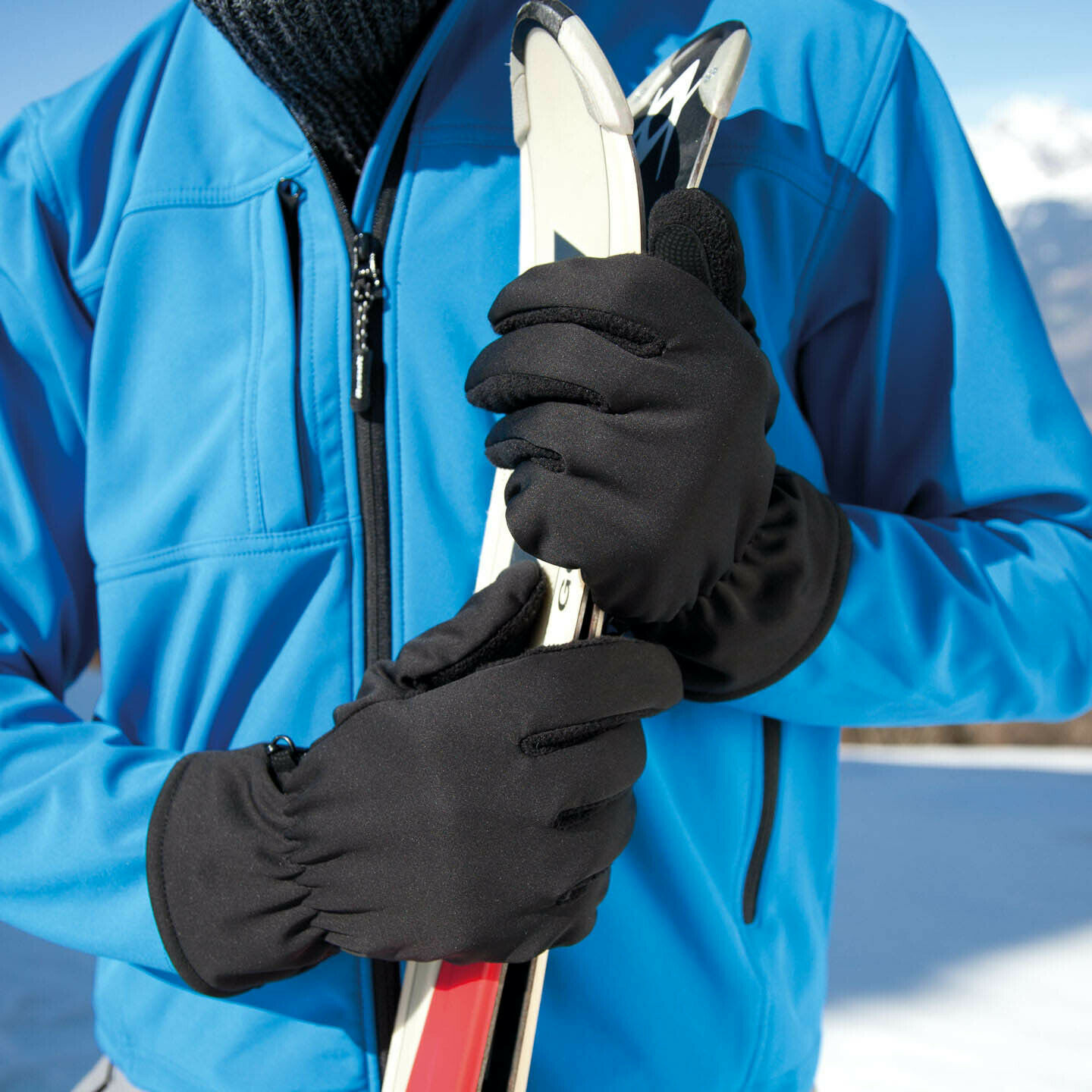 Softshell Thermal Ski Gloves Breathable Windproof Water Repellent Winter Gloves