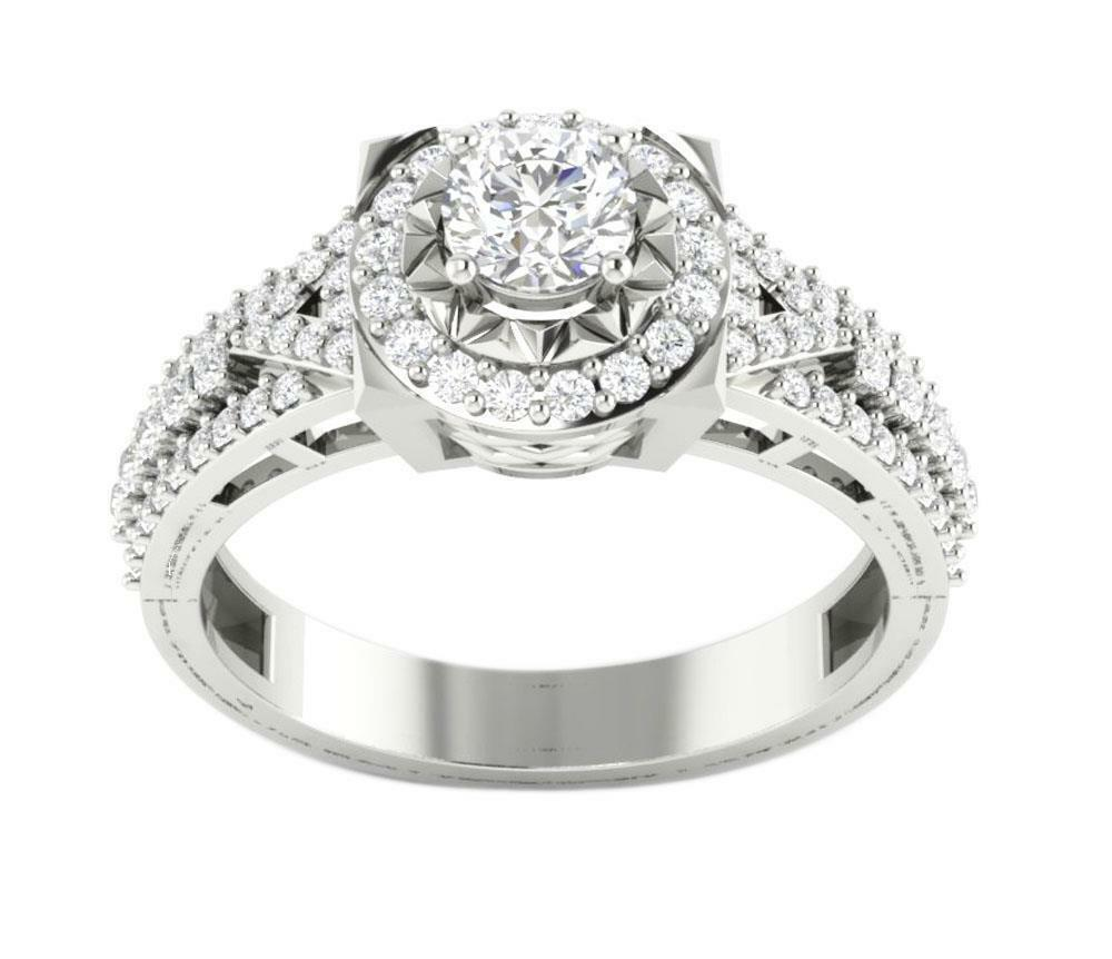 I1 G Natural Diamond 1.00Ct Solitaire Engagement Ring 14K White gold Appraisal