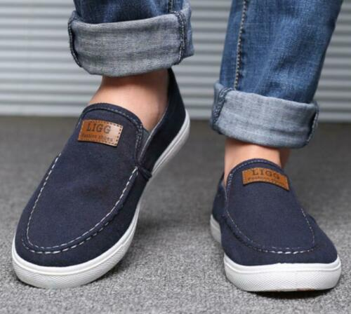 Mens Casual Walking Shoes Fashion Driving Boat Shoes Slip On Loafers Espadrilles