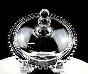 "IMPERIAL CANDLEWICK #3400 CLEAR 6 1/2"" INNER RIM DIAMETER LID 1936-1984"