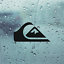 QUIKSILVER Die Cut Black Vinyl Decal//Sticker 5 in x 2.6 in Surfboard Car Window