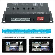 360° Full Views Car Parking Video Recording(DVR) Split Image Screen Switch Box