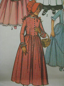 Image Is Loading Vintage Simplicity 9136 Costume Little House On The