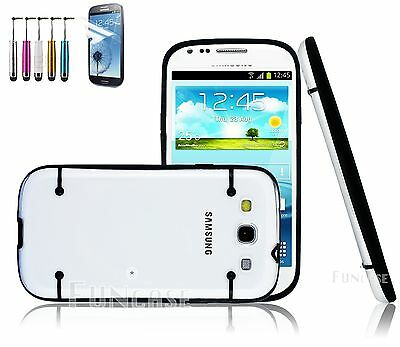 Clear Hybrid Rugged Rubber Matte Hard Case Cover For Samsung Galaxy S III i9300