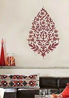 Sari Paisley Wall Art Stencil - Reusable Wall Decor For Diy - Home Improvement