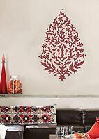 Sari Paisley Wall Art Stencil - Reusable Wall Decor For Diy - Home Improvement