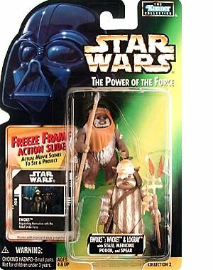 Star Wars The Power Of The Force Ewoks Wicket /& Logray Autographed