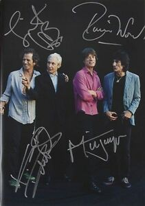 ROLLING STONES Autographed Photograph Jagger  Richards  Wood  Watts preprint - <span itemprop=availableAtOrFrom>Nottingham, Nottinghamshire, United Kingdom</span> - Refunds are given for genuinely damaged items. I am fair and reasonable, and assure you of my best attention at all times. - Nottingham, Nottinghamshire, United Kingdom