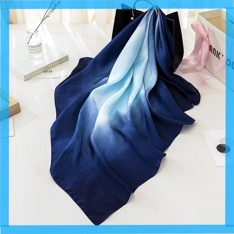 Desigual Schal Foulard Rectangle Misha Blau Rot Damen Stola 188 cm 17WAWFG0//7008
