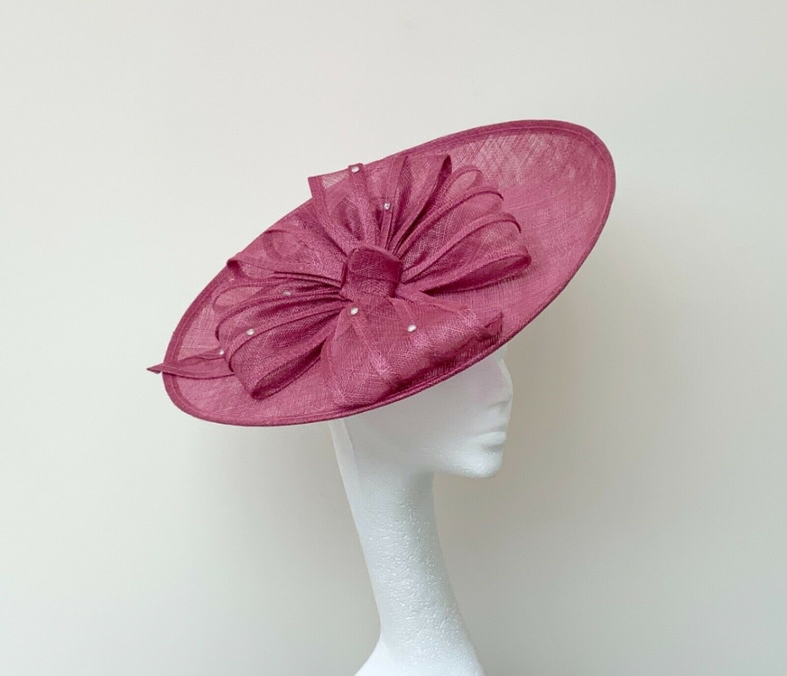 Deep Pink Saucer Fascinator - Wedding, Ascot, Races