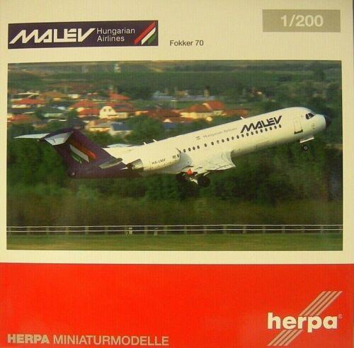 Herpa Wings 1:200 Fokker 70 malev airlines ha-LMF 570763 modellairort 500