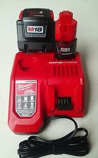 Milwaukee M18 rapid charger & 9.0 high demand battery pack, w/ M12 Battery