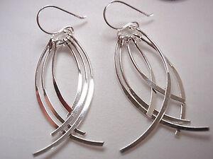 Silver Bulb Dangle Earrings 925 Sterling Silver Corona Sun Jewelry