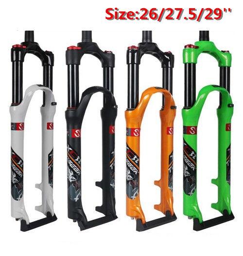 Choque de aire de horquilla para bicicleta de montaña toseek absorbor Manual Recto Tenedor de viaje 120mm