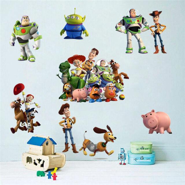 Toy Story Pixar Disney Wall Stickers Vinyl Decal Kids Boys Nursery Decor Art DIY