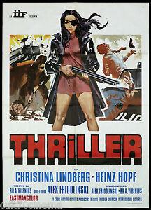 THRILLER MANIFESTO CINEMA LINDBERG SEX HARD EXPLOITATION 1974 MOVIE POSTER 2F