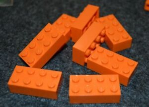 Orange 2x2 Standard Slope Bricks  ~ Lego  ~ NEW 8