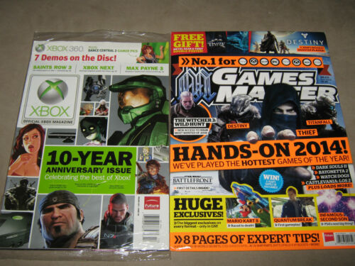 LOT of 2 GAMES MASTER Metal Gear & Thief POSTER + XBOX 360 Soccer + Demos Disc