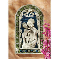 Virgin Mary Mother Of Jesus Wall Sculpture Baby Angel Catholic Statue Art Gift